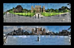 Wollaton Hall Winter and Summer Photomontages (ldjldj) Tags: nottingham morning snow david sunrise dark hall mosaic wayne montage photomontage knight manor hockney joiner nottinghamshire wollaton panograph