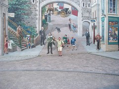 Quebec City, Quebec -  Old Town, wall mural (Guenther Lutz) Tags: impact