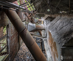 Iron Inlets And Outlets (billmclaugh) Tags: urban plant black abandoned industry photoshop canon rust industrial factory pennsylvania lick machinery adobe urbanexploration processing mineral coal hdr highdynamicrange tse lightroom urbex tiltshift on1 markiii 17mm f4l photomatix promotecontrol perfecteffects kovalchickcorp