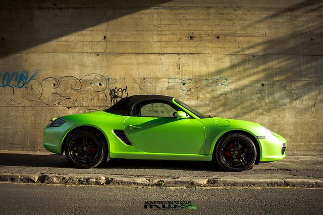 Porsche Boxster Gloss pearl green wrap