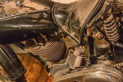 Detalhe motocicleta de Che