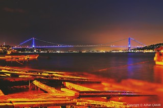 Midnight Istanbul Bosphorus Bridge