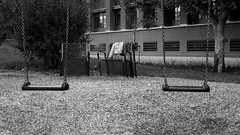 Forgotten Clothe (baTkill) Tags: park blackandwhite bw garden jardin panasonic parc lx7