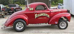 """1941 Willys Coupe """"Rigamortis"""" (Bill Jacomet) Tags: drag la louisiana no racing problem southern coupe 1941 willys 41 gasser raceway 2015 gassers rigamortis"""