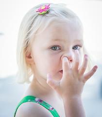 Busted! (Jan Moons) Tags: girl nose prime eyes nikon funny 85mm nikkor busted picking nikond600