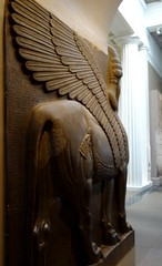 Another lamassu in the British Museum (heffelumpen9) Tags: sculpture britishmuseum lamassu assyria nimrud assyrianart neoassyrian
