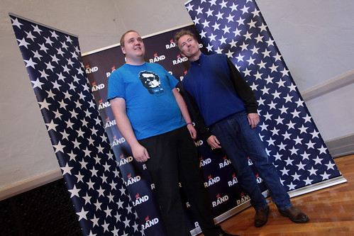 Rand Paul with a supporter