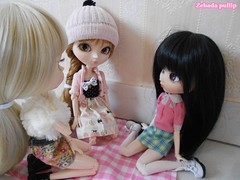 Lucie, Salomé et Mathilde - Pullip RAP, kiyomi et snow white (ZebadaPullip) Tags: pink white snow tristan doll alice version william collection planning passion romantic groove pullip kiyomi lucie jun mathilde salomé taeyang zebada
