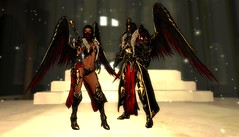 Infernal Armor set2 (Topa Adamski) Tags: world red game set wings medieval fantasy secondlife virtual armor knight warrior mage infernal roleplay zbrush platemail