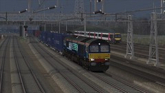 WCML Trent Valley - Expedite Directly (onelimatwenty) Tags: train rail simulator sim freight class66 drs wcml trainsimulator trentvalley railworks directrailservices westcoastmailline ts2015 ts2016