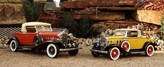 1932 Cadillac Series 452B V-16 Roadster & 1932 Chevrolet Confederate Series BA Deluxe Sports Roadster (JCarnutz) Tags: chevrolet cadillac roadster diecast franklinmint sportsroadster 124scale danburymint
