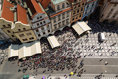 Prag-Blick vom Altstdter Rathaus (otto.domes) Tags: people prag tschechien menschen czechrepublic altstdterring birdseyeperspective vogelperpektive canonef2410514l canoneos5diii