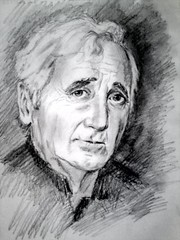 Charles Aznavour (The Art Of Armen Soghomonyan) Tags: show anna baby girl sketch with walk mother charles an will isabelle unknown flamenco tenderness aznavour i