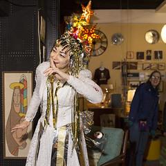 1639 It's a Secret! (eyepiphany) Tags: secret portlandoregon costuming mime streetperformance snowprincess itsasecret christmasfashion holidayshopwindow violettathesnowprincess christmascostuming