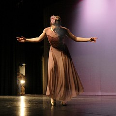 A Question of Balance (G-daddyArt) Tags: ballet woman costume wings stage curtain recital dancer spotlight slipper