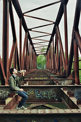 _Long Live_ (Corentin Schieb) Tags: bridge friends boy wild film nature analog 35mm lost photography model long friendship time geometry live young free symmetry analogue suspended abandonned argentique inthemoment corentin neverstopexploring schieb keepexploring