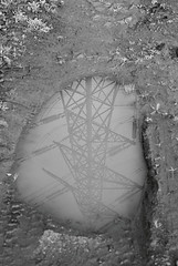 Portal (Unusuowl) Tags: england white black reflection film 35mm canon puddle 50mm ae1 super pylon xp2 illford ae c41 filmism