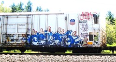 erupto (timetomakethepasta) Tags: train graffiti pacific union sws d30 freight reefer ghoul might erupto armn wyse a2m