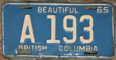 BRITISH COLUMBIA 1965 ---AGRICULTURAL or FARM TRUCK PLATE (woody1778a) Tags: britishcolumbia bc licenseplate numberplate registrationplate mycollection myhobby alpca1778 agicultureal vehicle farmtruck