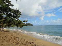 The Hanalei Bay Beach (jimmywayne) Tags: hanalei bay hawaii kauaicounty kauai ocean beach