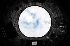 Medieval Skylight (Warwick Tams) Tags: medieval sky conwy castle turrett clouds symmetry circle brick wales