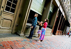 The Curious Children Who Looked into Darkness and Saw Light (kirstiecat) Tags: nashville tennessee kids children future windows street canon america unitedstates