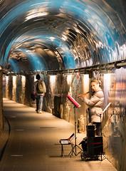 Riomaggiore (CdL Creative) Tags: 70d canon cdlcreative eos italy liguria riomaggiore busker geo:lat=441004 geo:lon=97367 geotagged tunnel it
