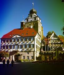 Herrenberg Rathaus und Turm der Stiftskirche am Marktplatz (EdgarJa) Tags: herrenberg deutschland germany stiftskirche kirche church rathaus town hall