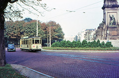 Once upon a time - The Netherlands - Den Haag Plein 1813 (railasia) Tags: holland zuidholland thehague plein1813 htm motorcar outofservice utilityvehicle utilityrun seventies