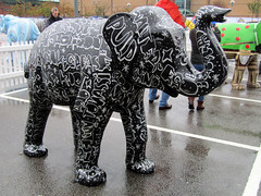 Stampeding Elegance by Kid Acne, Herd of Sheffield Farewell Weekend 2016 (Dave_Johnson) Tags: meadowhall carpark shoppingcentre stampedingelegance kidacne sheffieldmusic herdofsheffield herd elephant elephants art streetart sculpture sheffchildrens sheffieldchildrenshospitalcharity sheffieldchildrenshospital childrenshospitalcharity childrenshospital sheffield southyorkshire