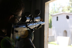 bullpup sniper rifle airsoft (TheSwampSniper) Tags: airsoft sniper swamp bolt action ballahack marksman replica intervention elite force g28 novritsch owner field ghillie suit hood best dmr high powered spring aeg