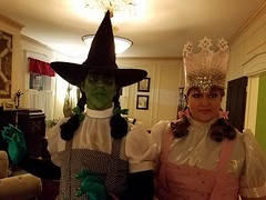 The Witches of OZ in their 2016 Halloween costumes (Halloween in Oz) Tags: seanbrown wickedwitchofthewest halloween2016 salem ma hawthornehotelcostumeball sevendeadlysins glinda oz halloweeninoz salemhauntedhappenings2016