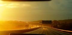 "A little bit unusual 41/53 ""Sunset and rain / Sonnenuntergang im Regen"" (Caledoniafan (Astrid)) Tags: caledoniafan samsung samsunggalaxynote3 nature sun sunlight sunshine sunset sonne sonnenschein sonnenuntergang sonnenlicht regen rain motorway autobahn"
