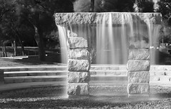 Wispy Water Feature (Casual Dad Photography) Tags: water blackandwhite neutraldensityfilter longexposure