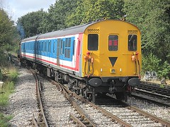 08683 & 205205 depart North Weald, EOR Epping Ongar Railway 08.10.16 (Trevor Bruford) Tags: eor epping ongar heritage railway north weald br train demu diesel locomotive multiple unit ee english electric nse network southeast 205205 1111 thumper shunter gronk 08683 d3850