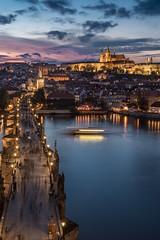 Sunset (kapros76) Tags: prague sunset cityscape vltava river charles bridge autumn long exposure