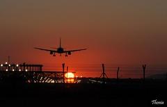 Prat del Llobregat (Gatodidi) Tags: deltadelllobregat barcelona aeropuerto avion aterrizaje espaa paisaje paisatje cielo nubes sunsets atardecer landscape nikon d90