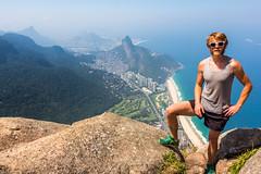 IMG_5016-2 (sergeysemendyaev) Tags: 2016 rio riodejaneiro brazil pedradagavea    hiking adventure best    travel nature   landscape scenery rock mountain    high forest  ocean   blue
