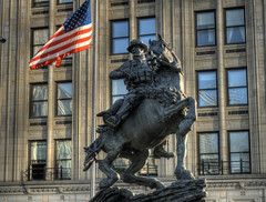 Monument to the US Armed Forces in NYC (neilalderney123) Tags: 2016neilhoward olympusuk olympus statue nyc newyorkcity
