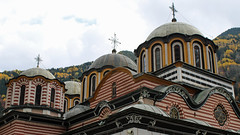 Rila Monastery Bulgaria (David Russell UK) Tags: rila bulgaria monastery church religion religious building architecture dome domes autumn 2016 color colors colour colours brick stone outdoor travel travelling roof design exterior