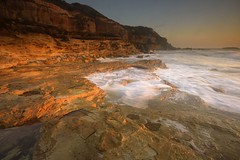 Chalky Beach Looking North (Paul Hollins) Tags: aus australia newsouthwales swanseaheads nikond750 nikon1635mmf4 seascape ocean waves chalkybeach watermovement goldenhour