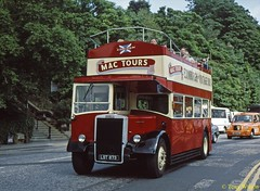14 Mac Tours (LST 873) Waterloo Place Aug00 (Copy) (focus- transport) Tags: bristol leyland open toppers