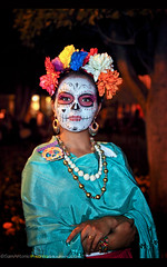 Day of the Dead - San Miguel de Allende, Mexico 2016 (Sam Antonio Photography) Tags: dayofthedead sanmigueldeallende mexico portrait female facepainting tradition culture celebration eldiademuertos samantoniophotography mexican halloween scary skull girl woman art mask makeup face costume decoration carnival dead day black paint white catrina muertos beauty spooky holiday death horror skeleton dia dark festival creepy adult mystic tribal mexicanculture folklore zombie voodoo nightmare model fashion painted people character traditional