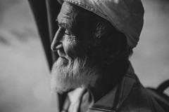Grandfa (guit_ak) Tags: portrait portraits people human man bw blackandwhite street beard grandfather beatiful light