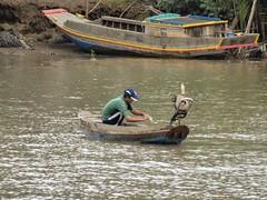 IMG_3341 (program monkey) Tags: vietnam mekong river delta cargo boat ben tre tra vinh palm tree tiny engine motor fish net