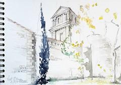 Niort, Sainte Pezenne (Croctoo) Tags: croctoo croquis croctoofr aquarelle watercolor niort poitou poitoucharentes
