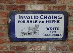 Invalid Chairs For Sale! (Terry Pinnegar Photography) Tags: beamish museum countydurham sign advertisement vitreous enamel metal vintage edwardian antique invalidchair