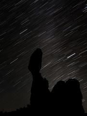 Star Trails (Michael Zahra) Tags: usa america star stars trails night le longexposure arches park utah 645z 645 pentax ricoh milkyway mediumformat astro astrophotography experiment nonoisereduction