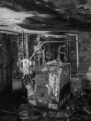 """The old boiler"" (Terje Helberg Photography) Tags: bw forfall abandoned blackandwhite bnw boiler bricks brokenglass centralheating creepy decay fyrkjele greenhouse heather murstein neglected old oven pipes scary sentralvarme spooky unattended urbex monochrome hordaland bergen samsung nx30 nx"