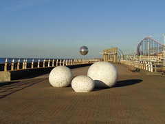 Glam Rocks and Glitterballs at Blackpool (j.a.sanderson) Tags: sculpture seasideattractions blackpool glitterballs glamrocks